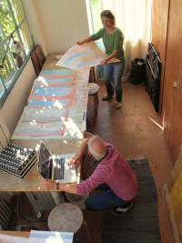Res und Regula Eichenberger im Atelier