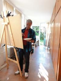 Bruno Arn im Atelier