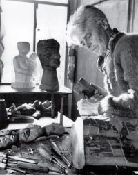 Georgette Klein im Atelier